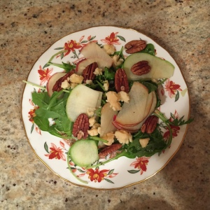Fall Greens with cheddar and pecans
