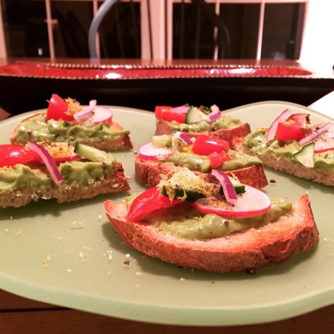 Avocado Toast with Fatoush