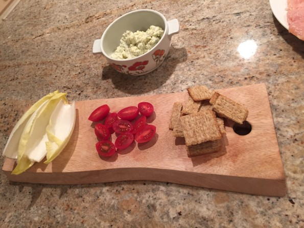 Blue cheese spread with endive