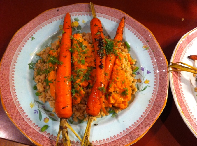Hilda's braised carrots for meatless Monday