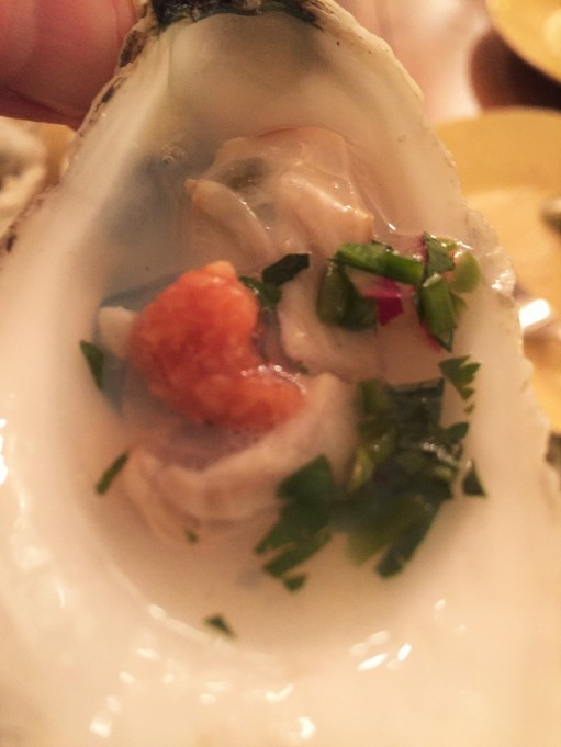 Grilled Oyster with Jalapeno Mignonette
