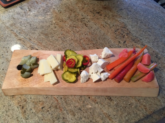 Pickle and cheese board