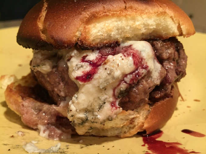 Blue Cheese Burger with Port Wine Sauce