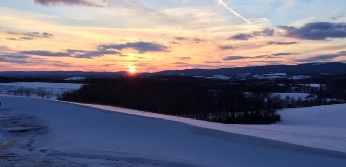 Sunset at Richmond Farm