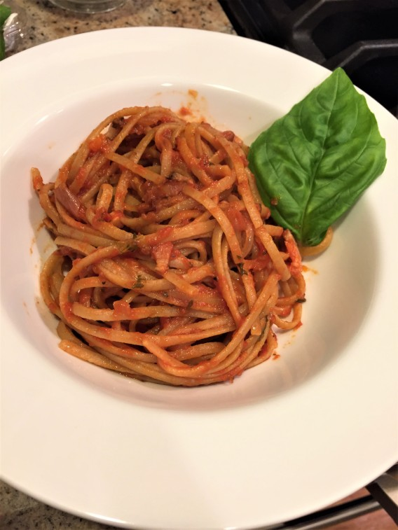 linguine amatriciano