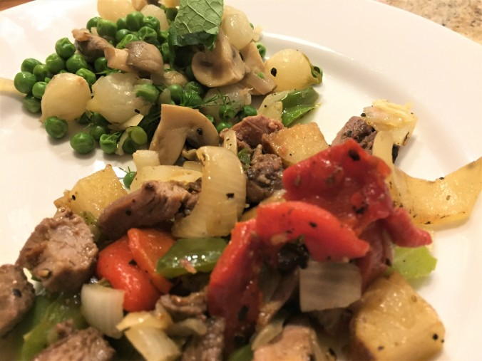 pea stew and hash
