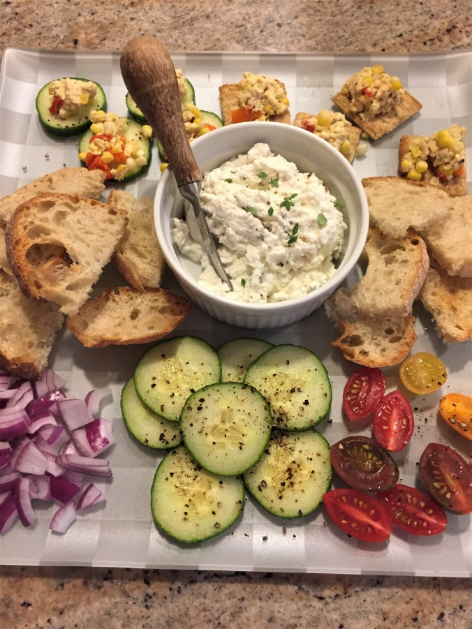 Ricotta with crudites