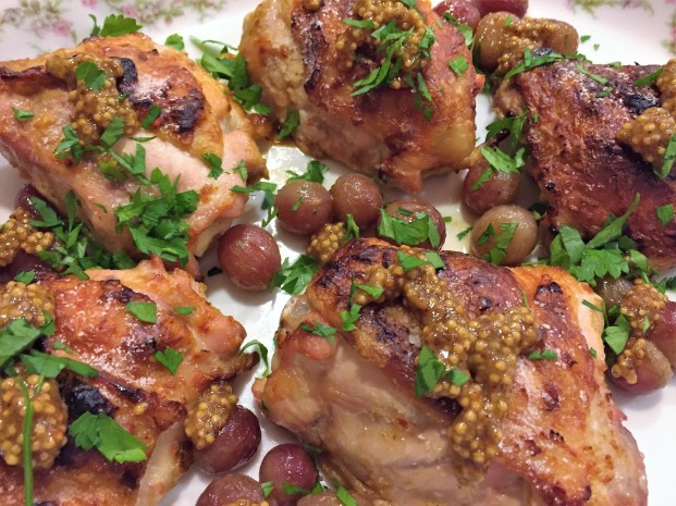 Yogurt Chicken with Mustard Seed Sauce