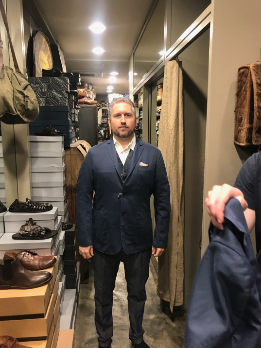 Andrew at tailors