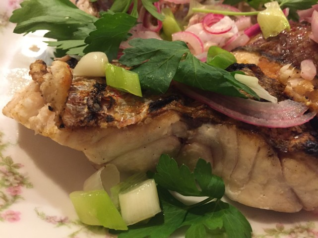 grilled snapper escabeche