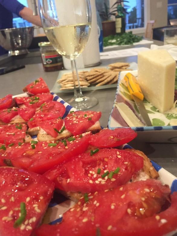 Tomato bread on counter