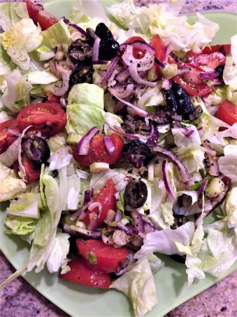 Italian restaurant chopped salad