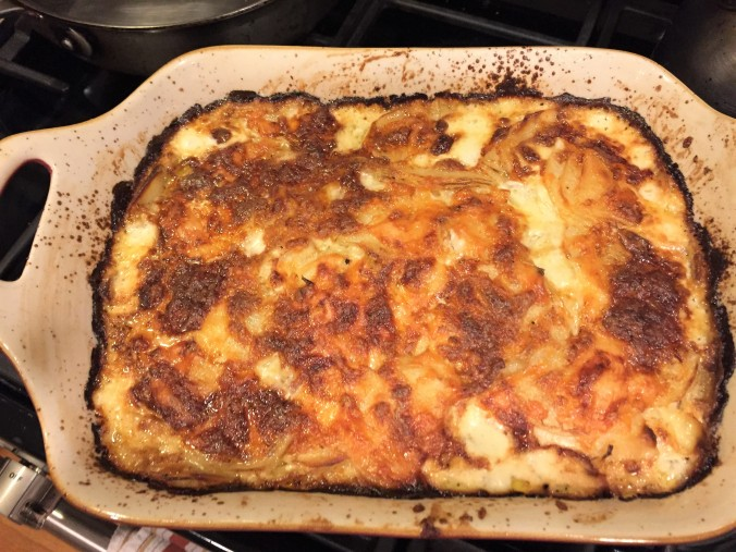 potatoes and fennel au gratin