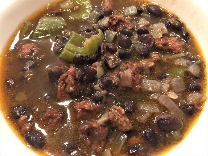 Chorizo-black bean soup