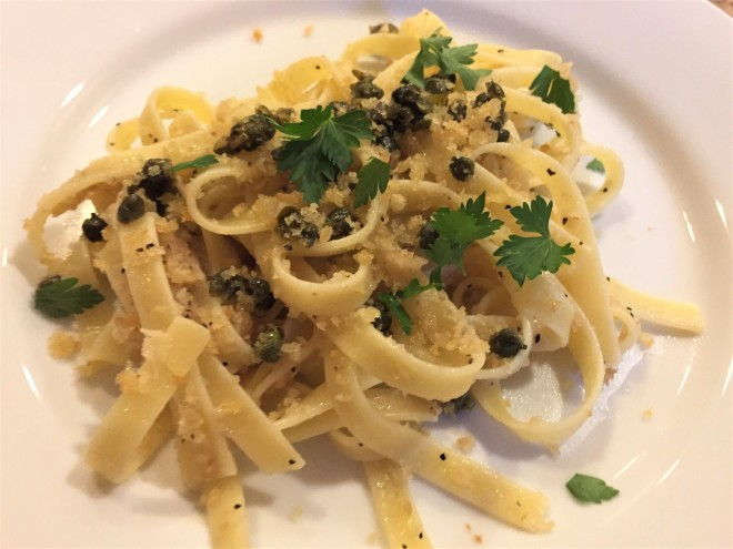 pasta with fried capers