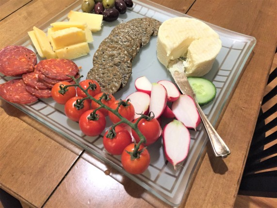 salumi and cheese plate