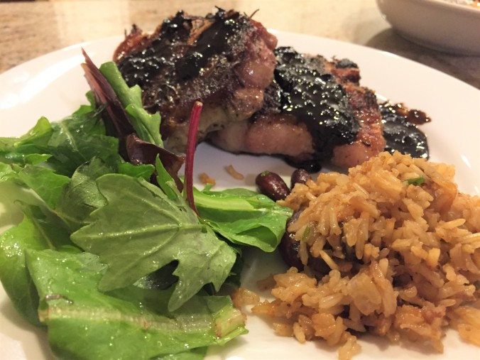 chops with balsamic reduction