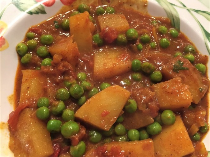 Potato and pea curry (2)