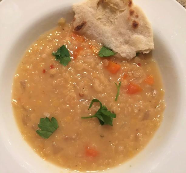 Lentil soup flat bread (2)
