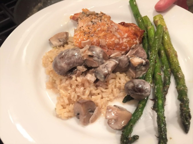 chicken with mushroom sauce (2)