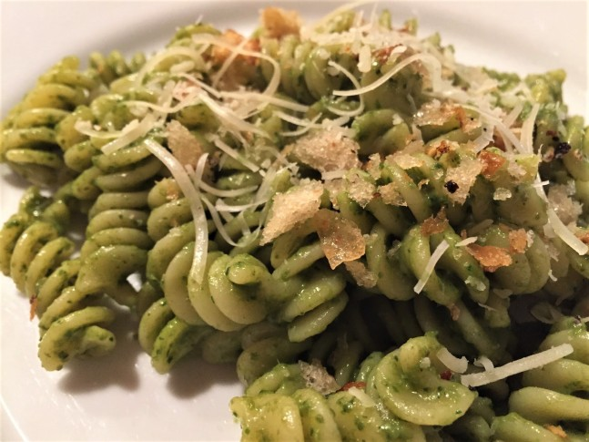 Pasta with evolved pesto (2)