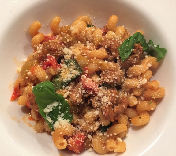 pasta with sausage and eggplant (2)