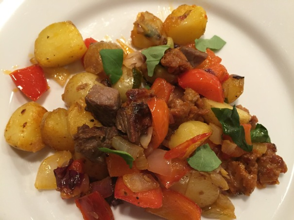 Steak and Sausage Hash